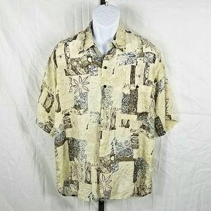 Bruno B Silk Men's Short Sleeve Button Down Shirt